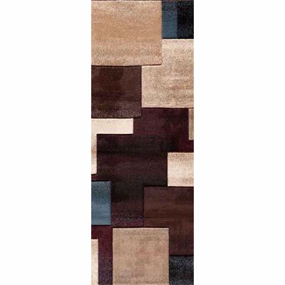 Picture of Pinnacle Strie Blocks Black/Mult 2x7 Rug