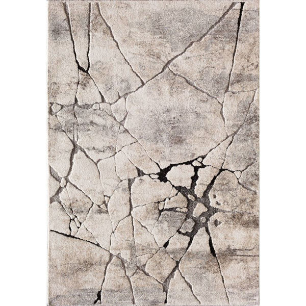 Picture of Grey Beige Crackle 8x10 Rug