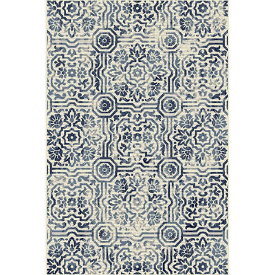 Picture of Audrina Blue Panels 8x10 Rug