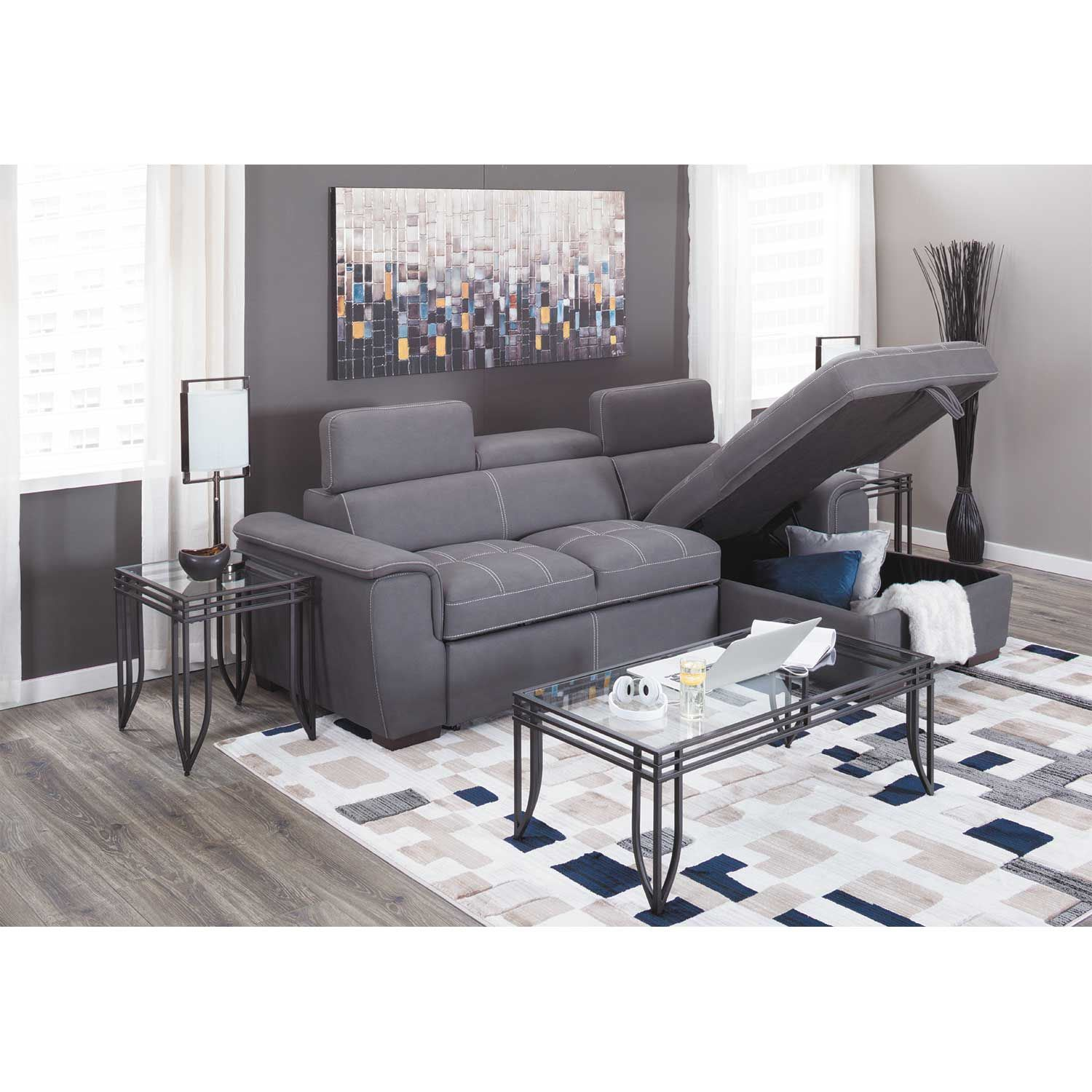 Picture of Levi 2 Piece Sectional with Pull Out Bed