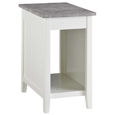 Picture of Diamenton White Chair Side End Table