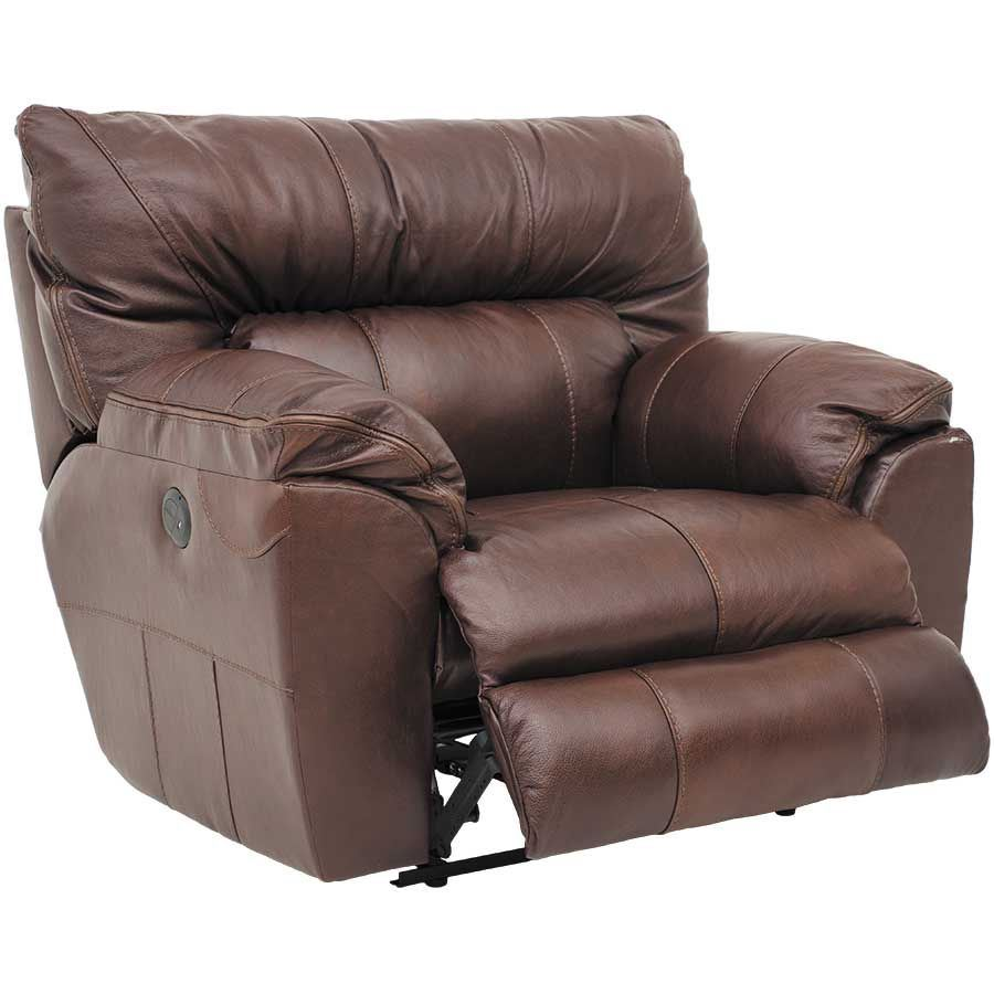 Picture of Walnut Italian Leather Recliner