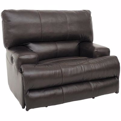 Picture of Wembley Chocolate Italian Leather Recliner