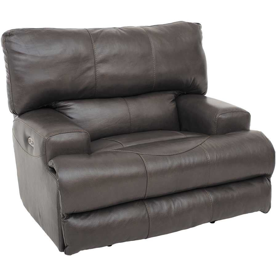 Picture of Wembley Steel Italian Leather Power Recliner