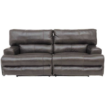 Picture of Wembley Steel Italian Leather Reclining Sofa