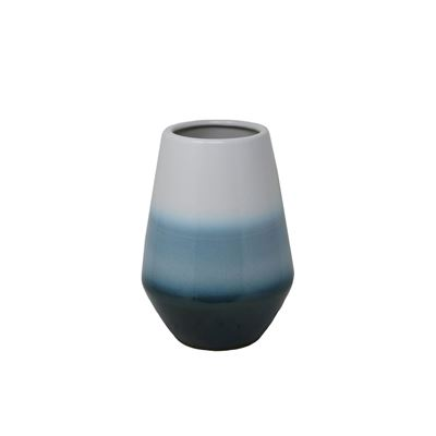 Picture of White and Blue Ceramic Vase