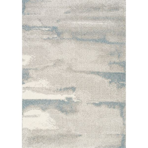 Picture of Sable Soft Blue Ivory Grey 8x10 Rug