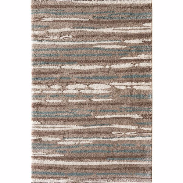 Picture of Lemars Linear Mocha Teal 8x10 Rug
