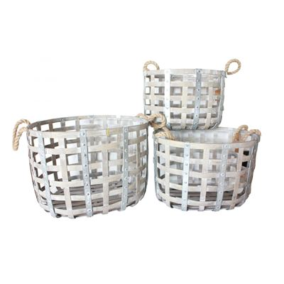Picture of Set of 3 Natural Open Baskets