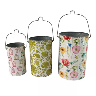 Picture of Set of 3 Floral Buckets