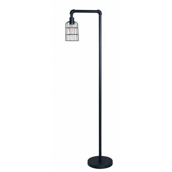 Picture of Wire Retro Floor Lamp With Edison Bulb