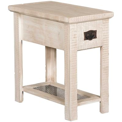 "Picture of 24"" Chairside Table, White"