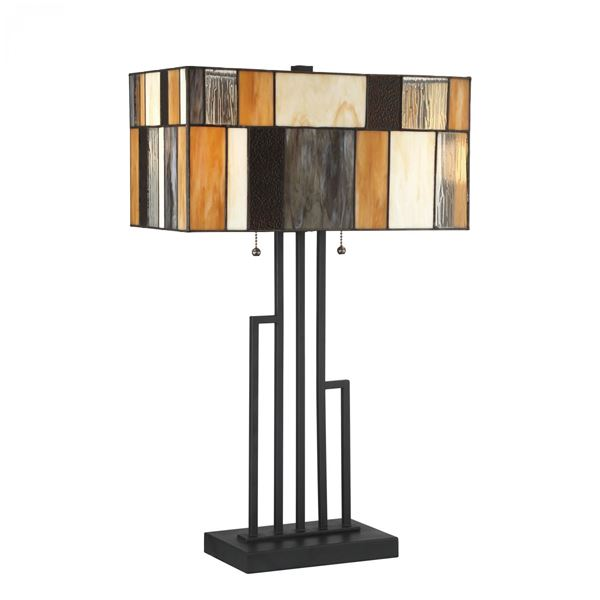 Picture of Amber Charcoal Tiffany Lamp
