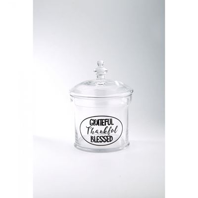 Picture of Clear Glass Grateful Jar