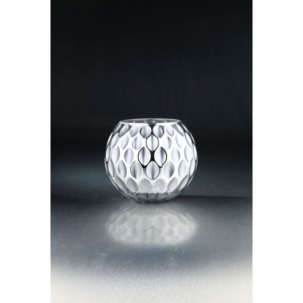 Picture of Gray Glass Round Textured Vase