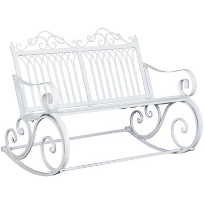 Picture of White Rocking Bench