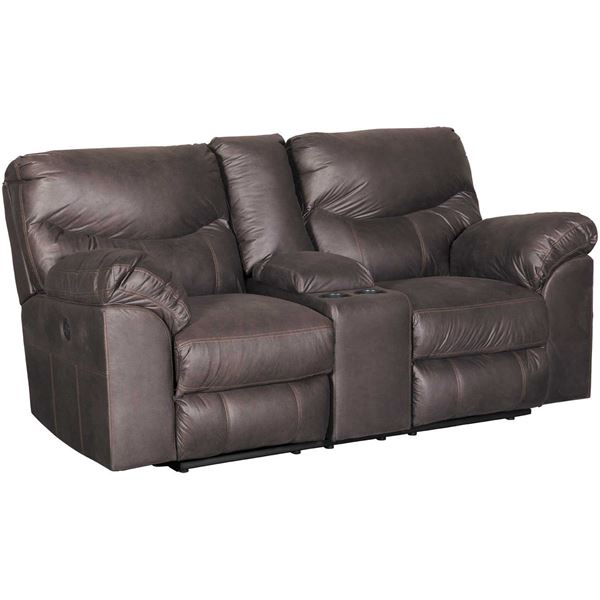Picture of Boxberg Teak Power Reclining Console Loveseat