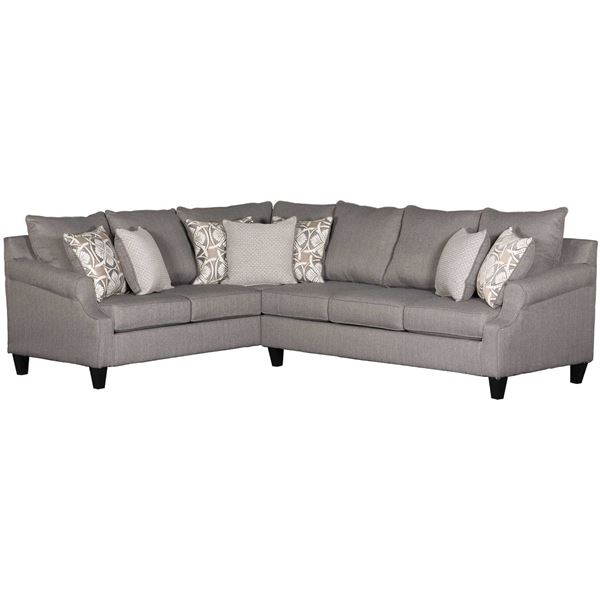 Picture of Bay Ridge 2 Piece Gray Sectional