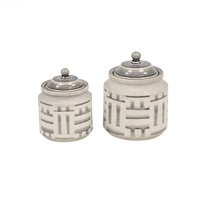 Picture of Set 2 Jars With Lids Neutrals