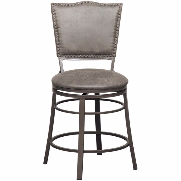 """Picture of 24"""" Fully Welded Rustic Swivel Barstool"""