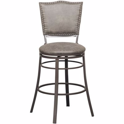 """Picture of 30"""" Fully Welded Rustic Swivel Barstool"""