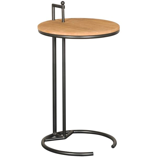 Picture of Metal and Wood Accent Table