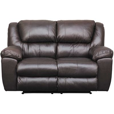 Picture of Italian Leather Power Reclining Loveseat