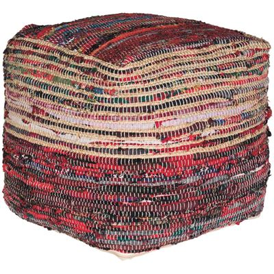 Picture of Ampic Red Woven Pouf