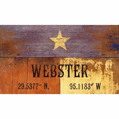 Picture of Texas Lat/Long Webster Wood Sign