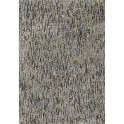 Picture of Faded Blue Multi Shag 8x10 Rug