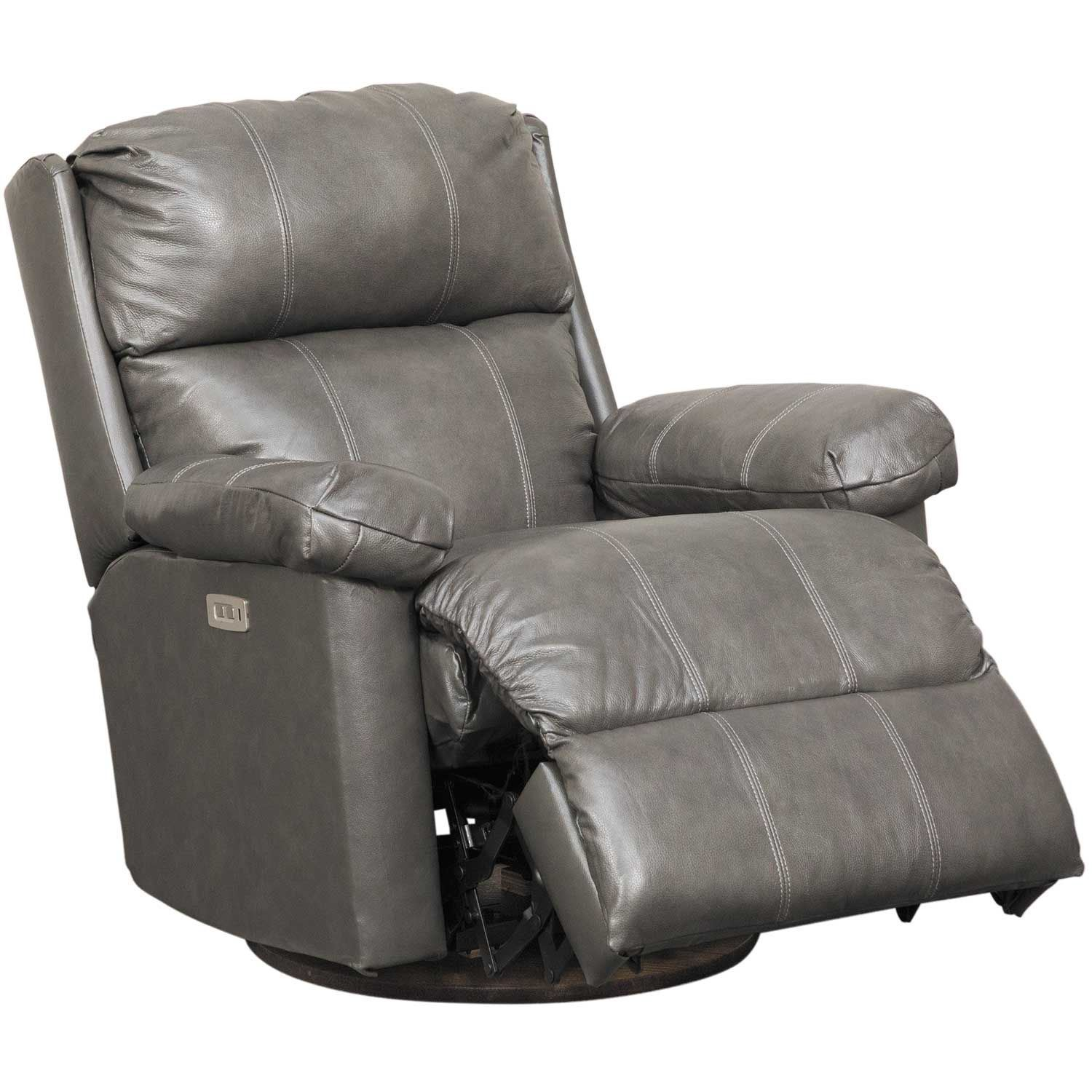 Picture of Soft Touch Granite Leather Glider Power Recliner