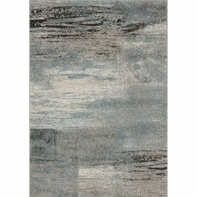 Picture of Breeze Gray Blue Charcoal 5x8 Rug