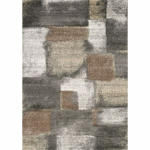 Picture of Breeze Gray Ivory Brown 5x8 Rug