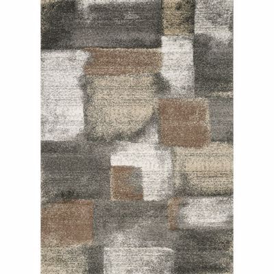 Picture of Breeze Gray Ivory Brown 8x10 Rug