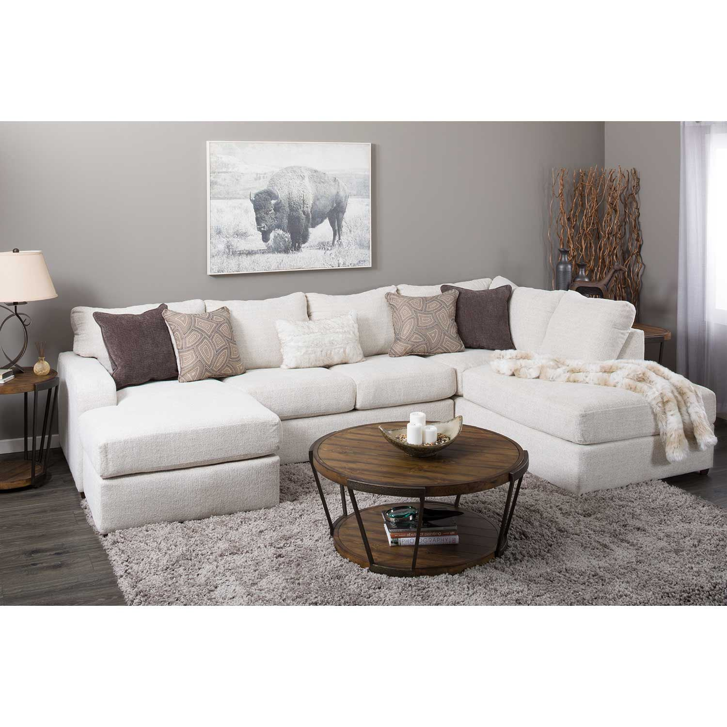 Picture of Amplify Beige 2 Piece LAF Sofa Chaise Sectional