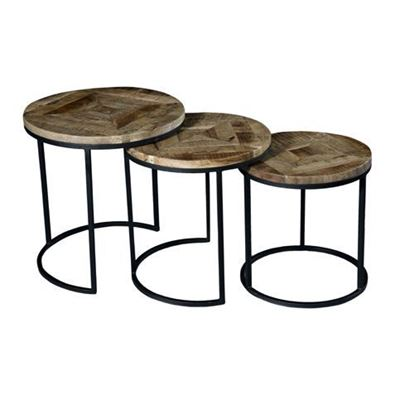 Picture of Vintage Round Nesting Tables, Set of 3
