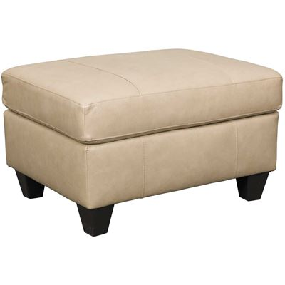 Picture of Graham Putty Leather Ottoman