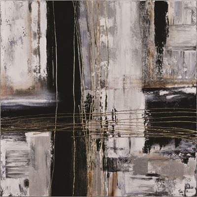 Picture of Black Gold Grey Abstract