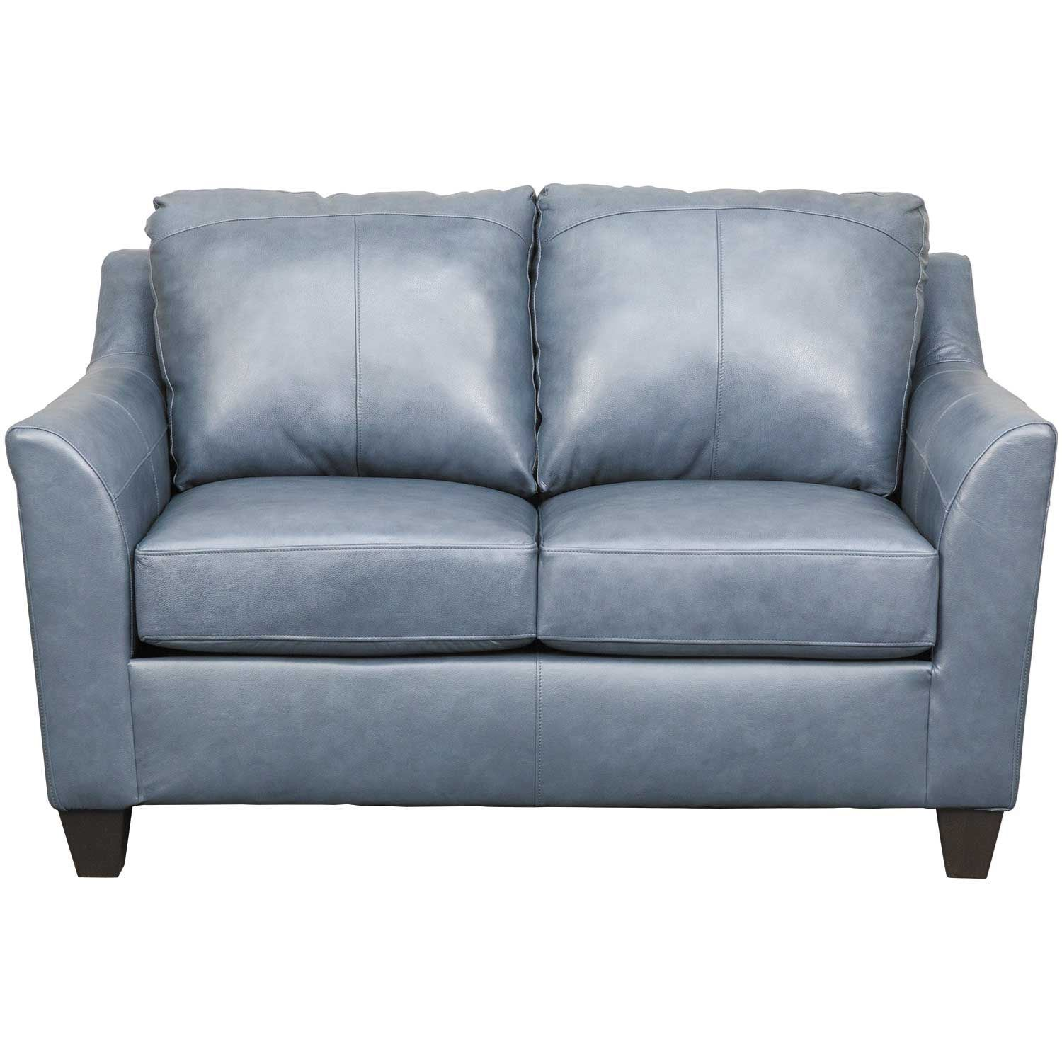 Picture of Declan Shale Leather Loveseat