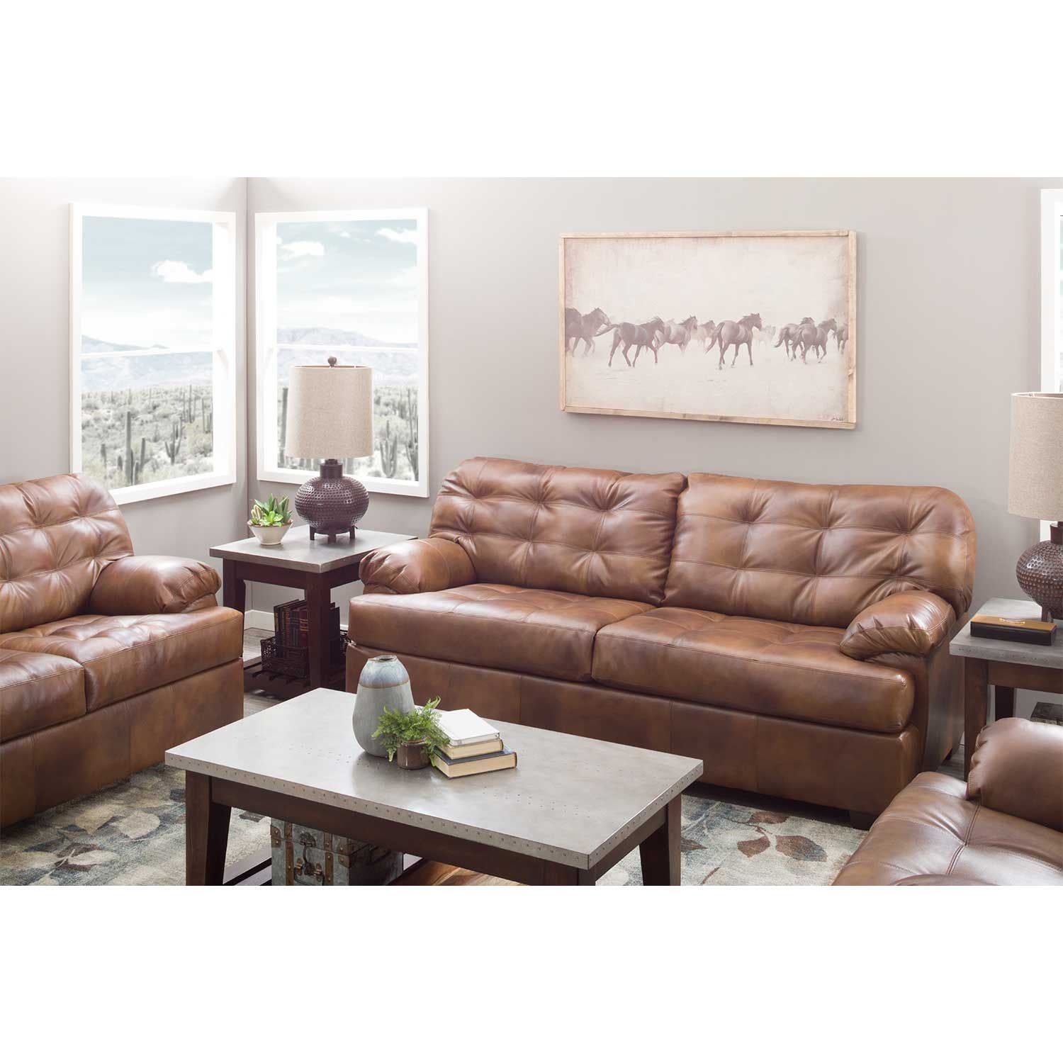 Picture of Dunham Chaps Leather Ottoman
