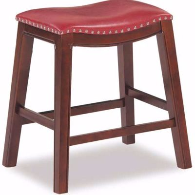 """Picture of Red 24"""" Padded Saddle Stool"""