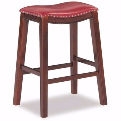 "Picture of Red 30"" Padded Saddle Stool"