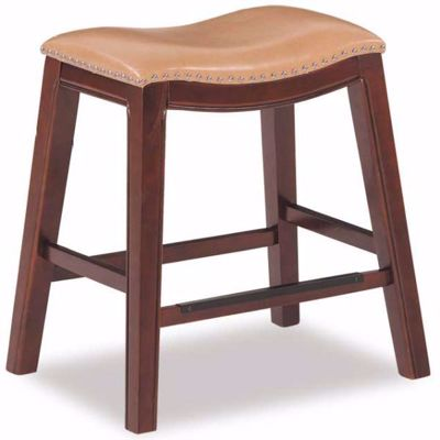 """Picture of Tan 24"""" Padded Saddle Stool"""