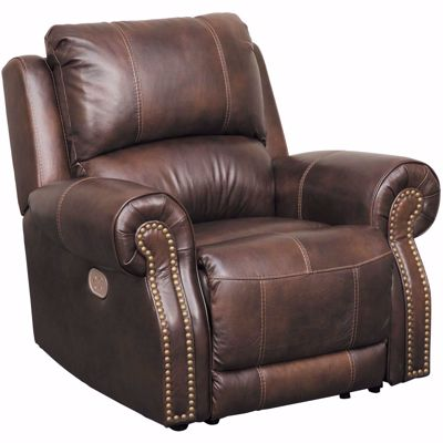 Picture of Buncrana Italian Leather Power Recliner with Adjustable Headrest