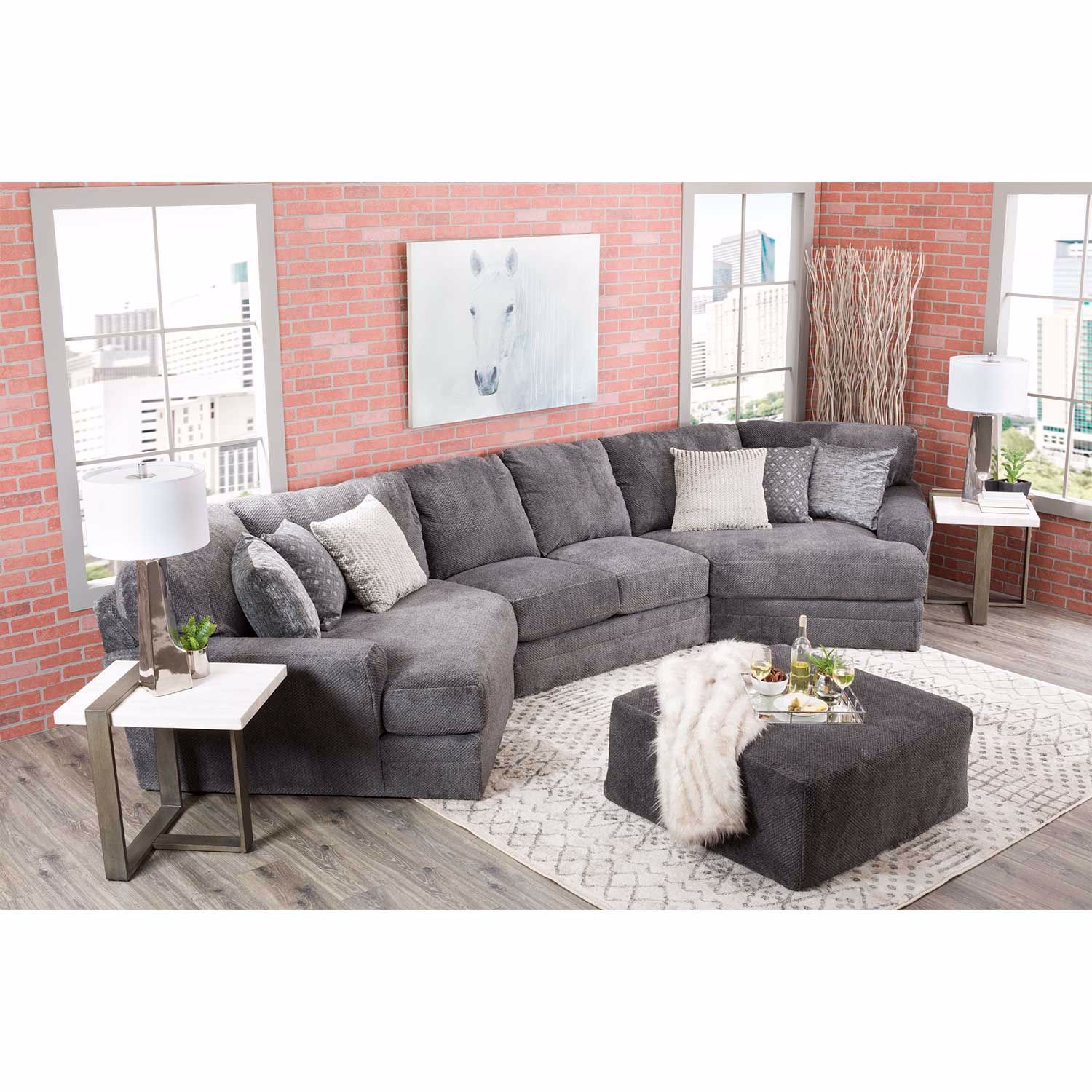 Picture of Mammoth 3 Piece Sectional with LAF and RAF Wedge