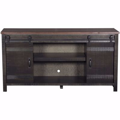"Picture of Descanso 64"" Highboy Barn Door Console, Charcoal"