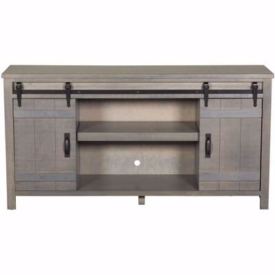 "Picture of Descanso 64"" Highboy Barn Door Console, Gray"