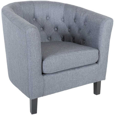 Picture of Mallory Gray Tufted Tub Chair