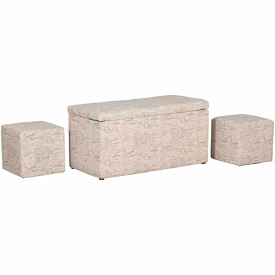 Picture of Script Storage Ottoman with Cubes