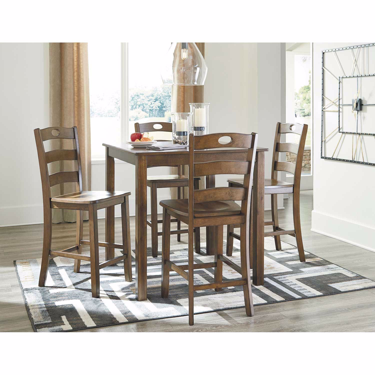 Picture of Hazelteen 5 Piece Counter Height Set